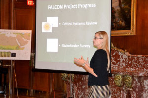 Candice Luebbering, AAG Senior Research Geographer, at the Eye on Earth: FALCON Workshop Disaster Management Special Initiative, October 24-25, 2014.